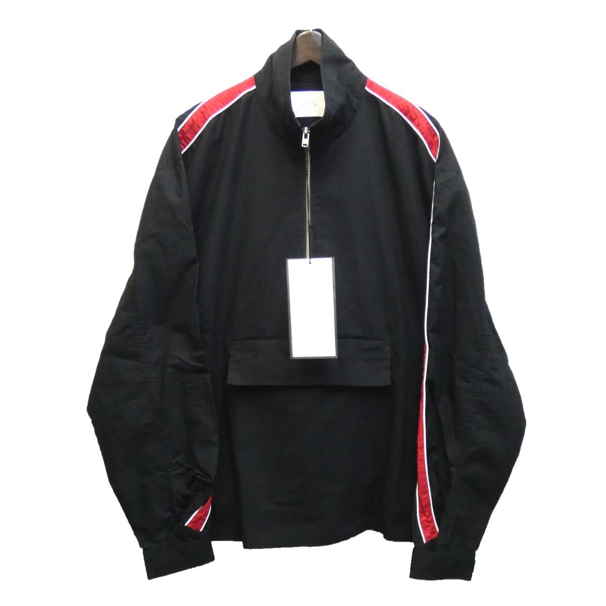 【中古】STAMPD 18AW 「RACING ANORAK」 アノラックジャケット ブラック×レッド サイズ:L 【010420】(スタンプド)