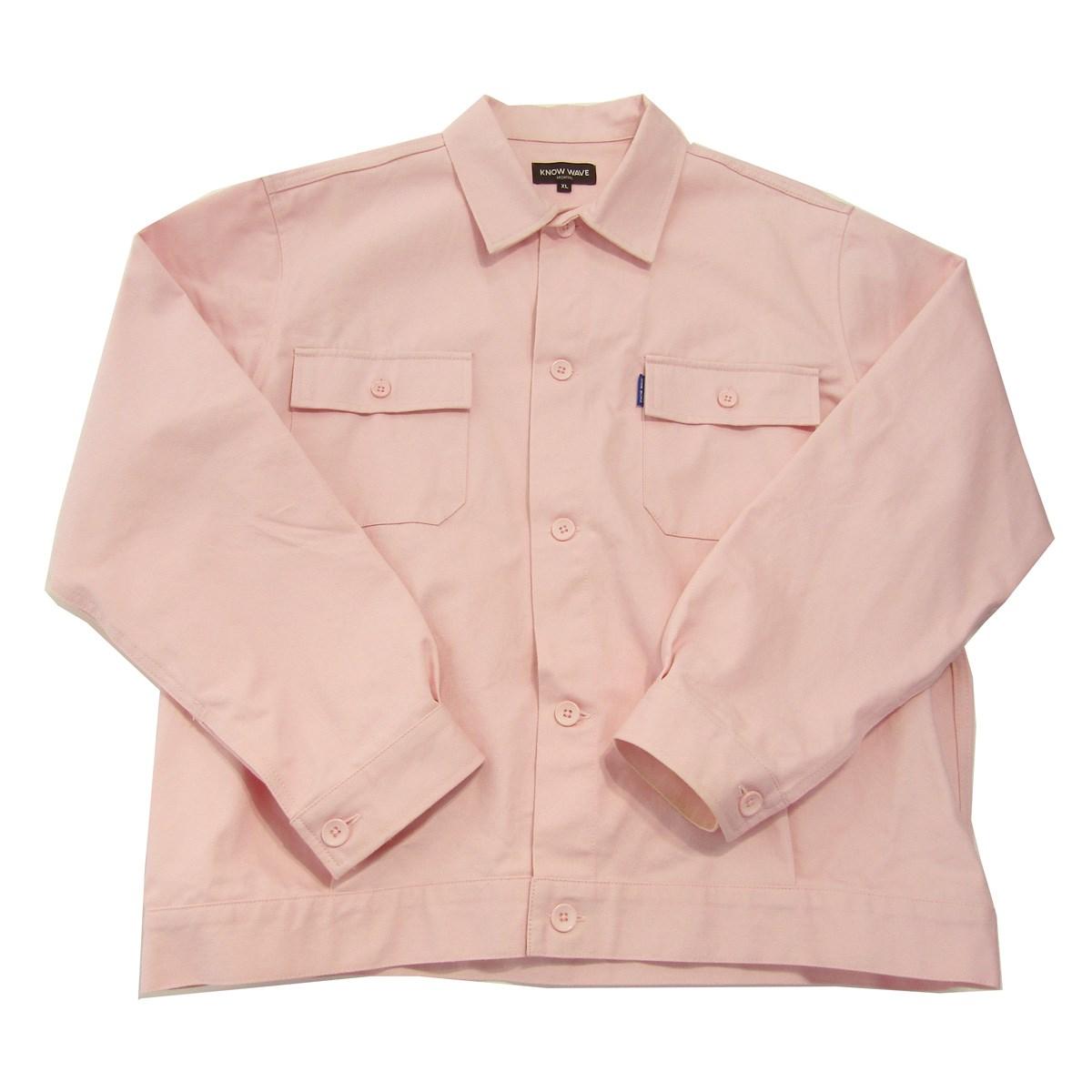 【中古】KNOW WAVE 2018AW Engineer Jacket ワークシャツジャケット ピンク サイズ:XL 【010420】(ノウウェイブ)