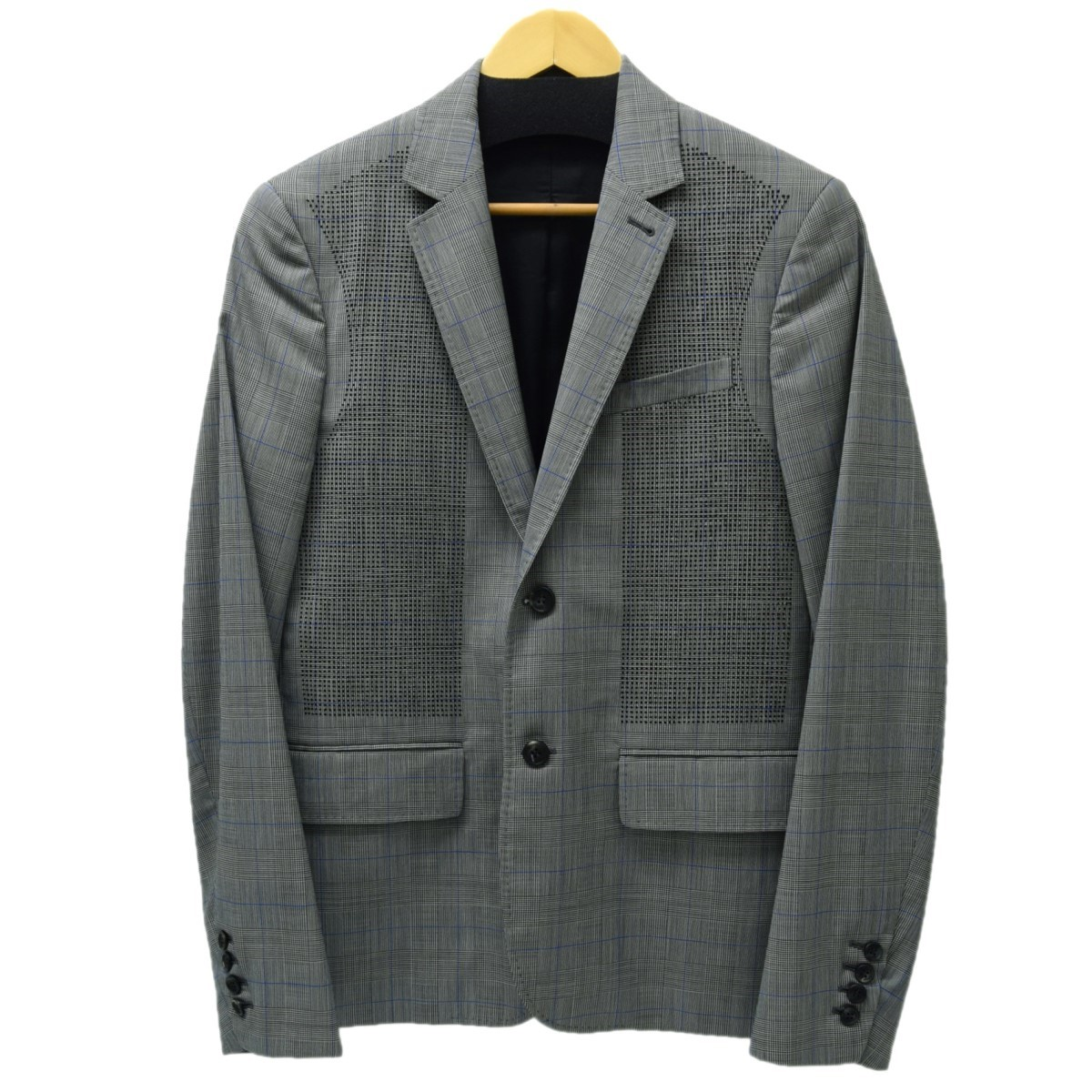 【中古】OAMC グレンチェックジャケット 2016SS ブラックxホワイト サイズ:46 【010420】(オーエーエムシー)