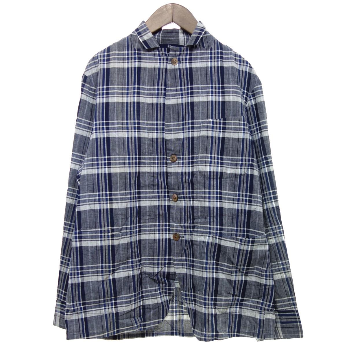【中古】45rpm 6ポケットシャツジャケット ネイビー サイズ:3 【020420】(フォーティファイブ・アールピーエム)