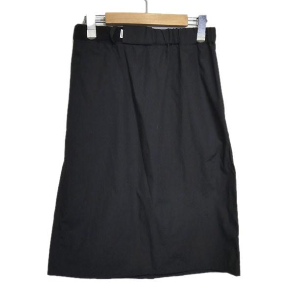 【中古】Graphpaper 2017SS 「Typewriter Original Easy Skirt」 イージースカート ブラック サイズ:F 【020420】(グラフペーパー)
