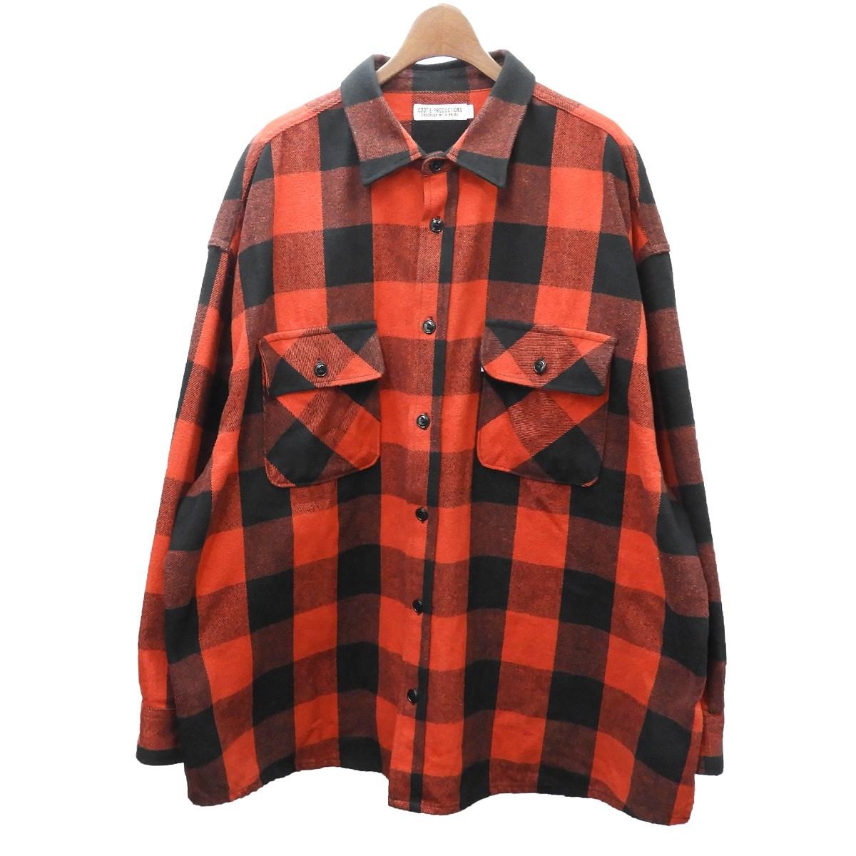 【中古】COOTIE 2019AW「Buffalo CPO Jacket」バッファローチェックシャツ レッド×ブラック サイズ:L 【030420】(クーティー)