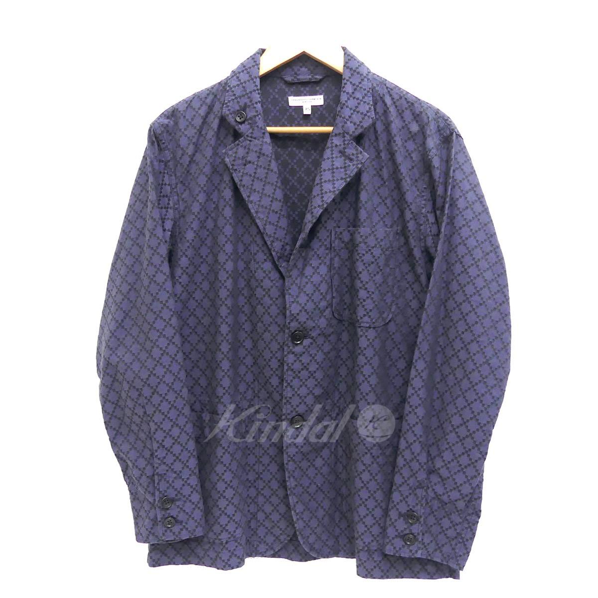 【中古】Engineered GarmentsLoiter Jacket Diamond Jacquard ロイタージャケット ネイビー サイズ:XS 【5月14日見直し】