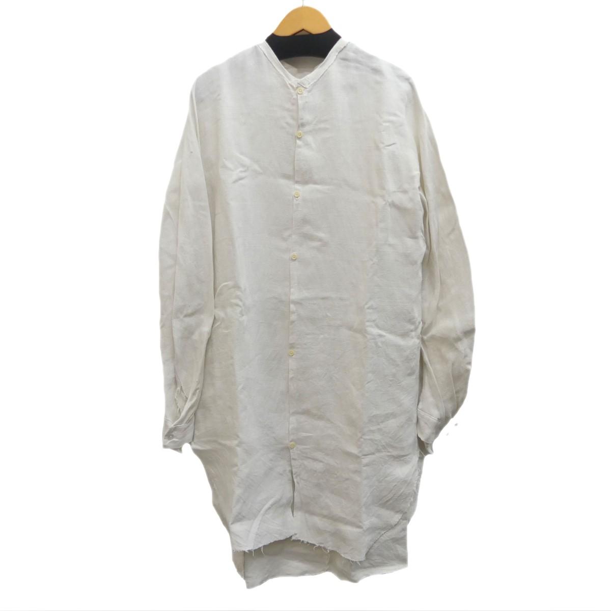 【中古】Proposition LESS SEAM SHIRT リネンロングシャツ ホワイト サイズ:M 【020420】(プロポジション)