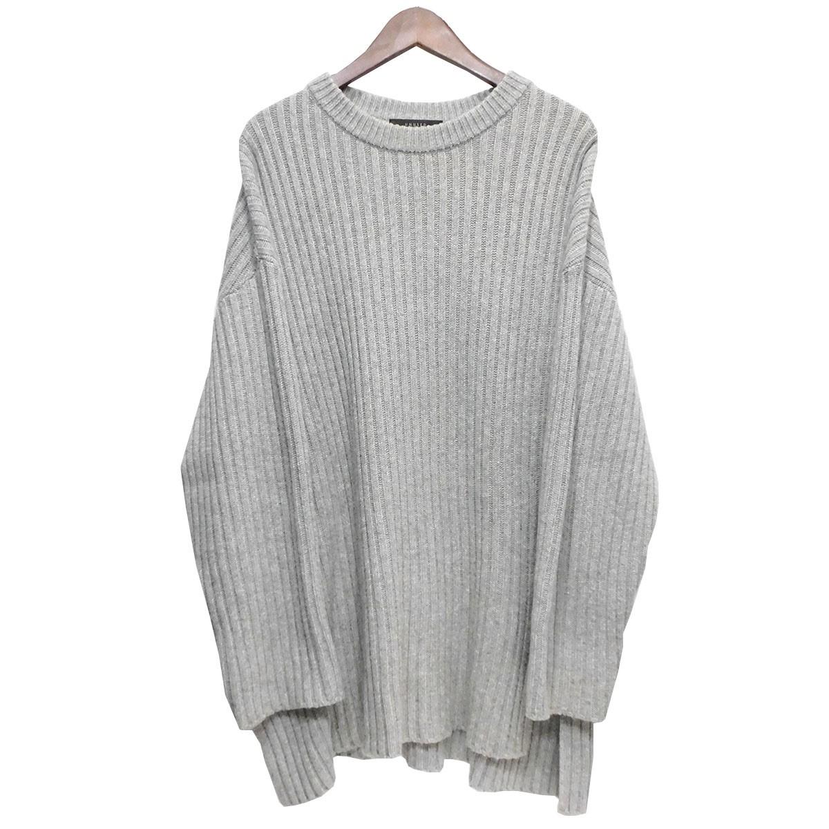 【中古】UNUSED 「5G Crew Neck Knit Sweater」 クルーネックニット グレー サイズ:3 【020420】(アンユーズド)