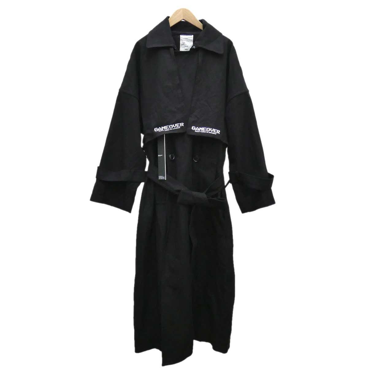 【中古】shareef トレンチコート 2019AW ブラック サイズ:1 【030420】(シャリーフ)