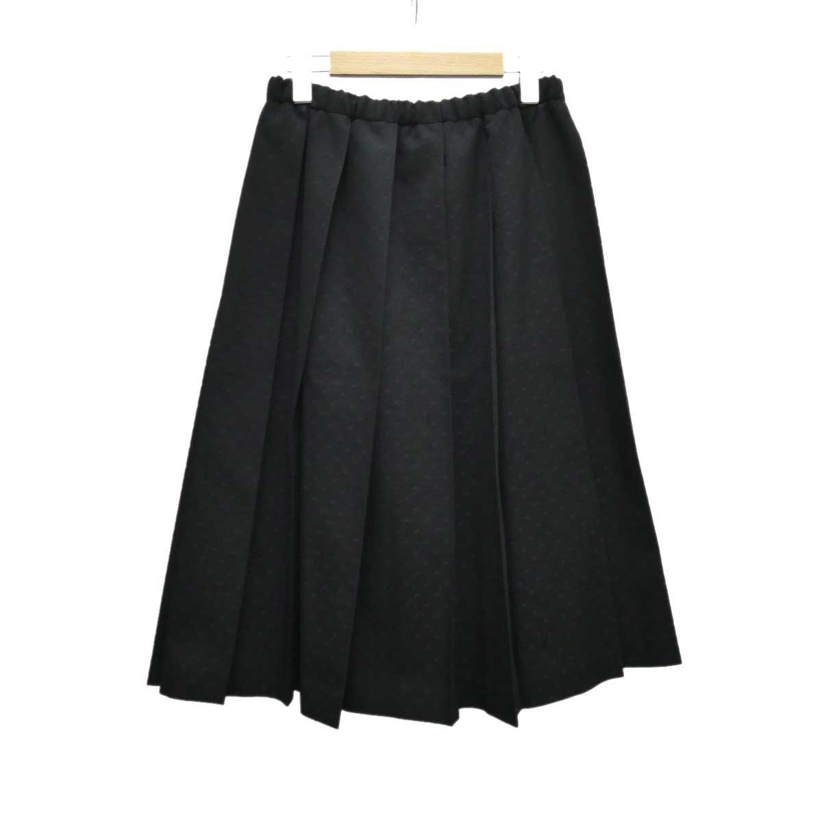 【中古】tricot COMME des GARCONS ドット柄プリーツスカート ブラック サイズ:- 【030420】(トリココムデギャルソン)