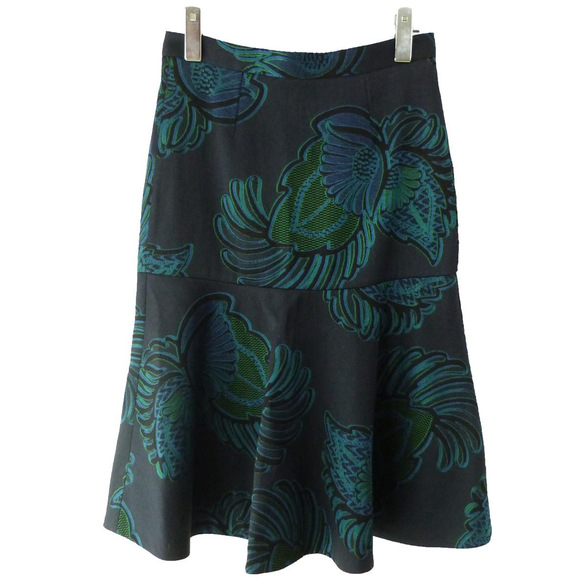 【中古】STELLA McCARTNEY フラワースカート ネイビー サイズ:36 【030420】(ステラマッカートニー)