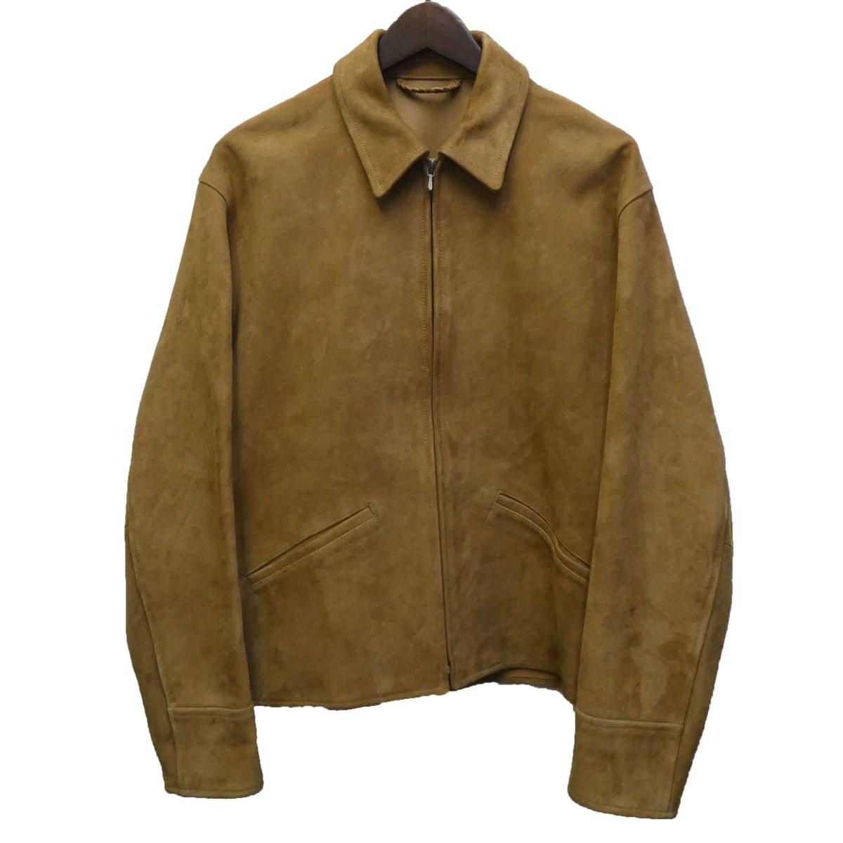 【中古】COMOLI シープスキンスウェードレザージャケット ベージュ サイズ:2 【030420】(コモリ)
