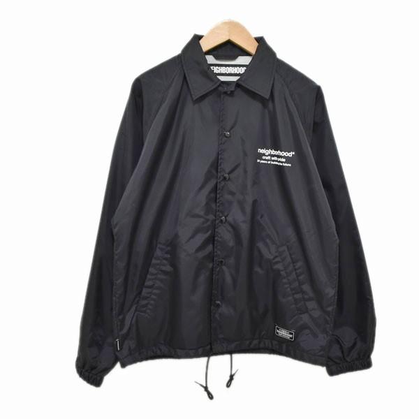 【中古】NEIGHBOR HOOD 19SS コーチジャケット BROOKS / N-JKT ブラック サイズ:S 【030420】(ネイバーフッド)