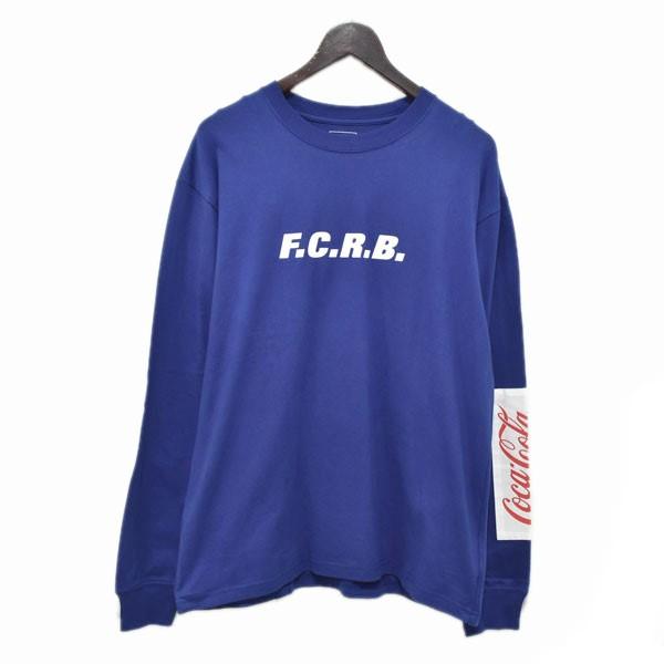 【中古】F.C.R.B. コカコーラ プリントカットソー COCA-COLA PATCHED L/S TEE ブルー サイズ:L 【030420】(エフシーアールビー)