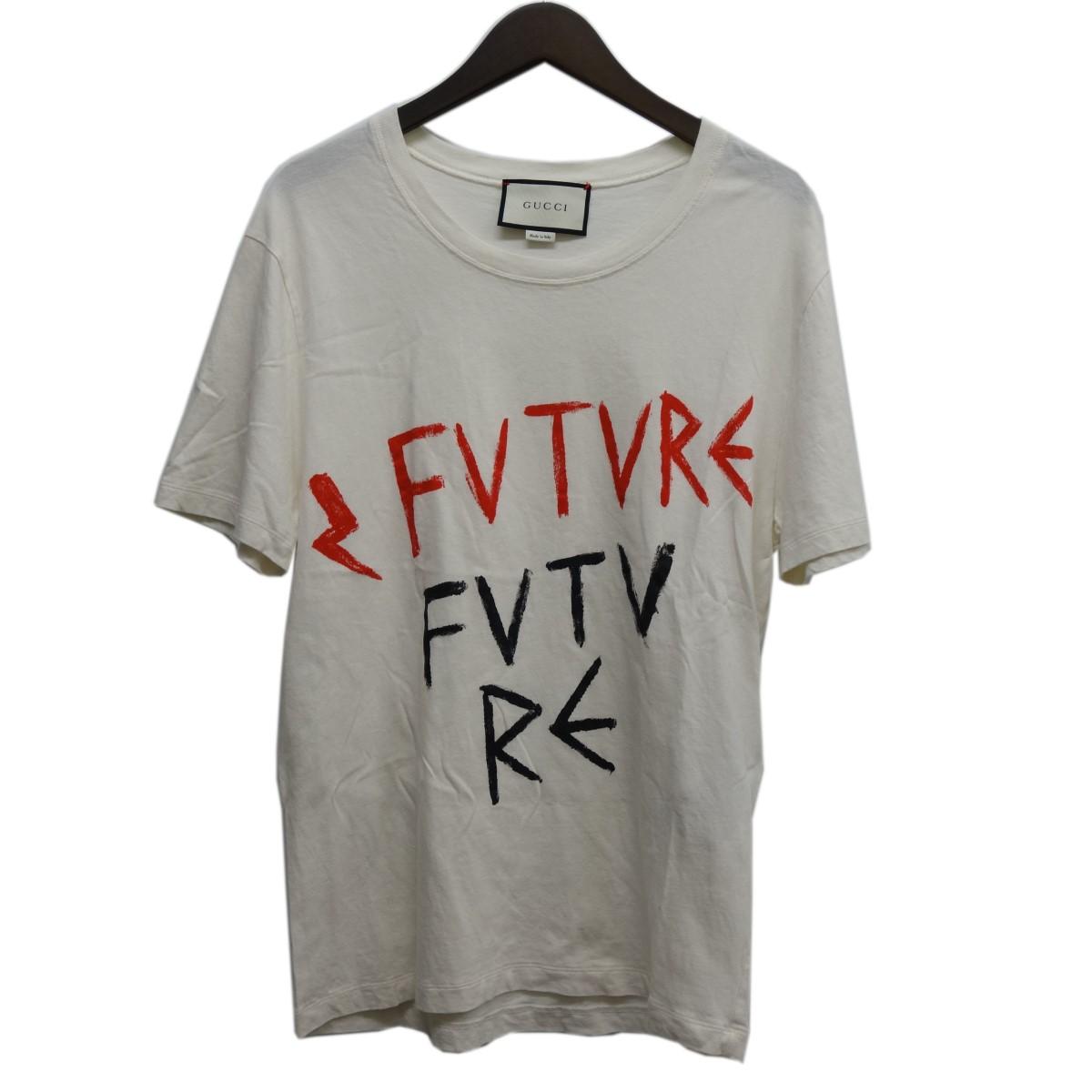 【中古】GUCCI プリントTシャツ ホワイト サイズ:S 【030420】(グッチ)