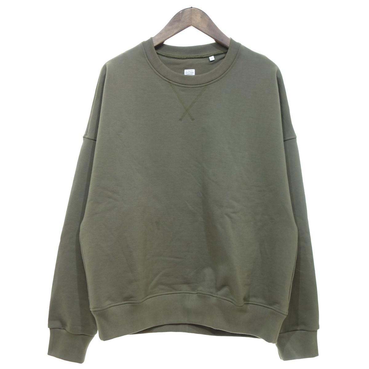 【中古】E.TAUTZ 【2020S/S】plain military sweatshirt トレーナー カーキ サイズ:S 【040420】(イートウツ)