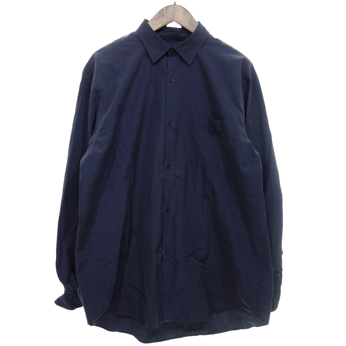 【中古】COMOLI 【2020S/S】COMOLI SHIRT シャツ ネイビー サイズ:3 【040420】(コモリ)