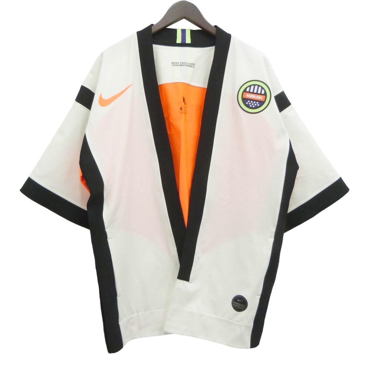 【中古】AMBUSH × NIKE 「W NRG Cd JKT」ハッピナンバリングジャケット ホワイト×オレンジ サイズ:XS 【040420】(アンブッシュ ナイキ)