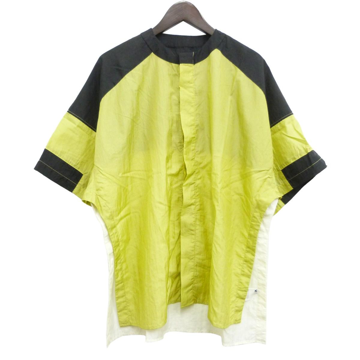 【中古】AMBUSH 「SIDE SLIT SHIRT」サイドスリット半袖シャツ イエロー サイズ:1 【040420】(アンブッシュ)