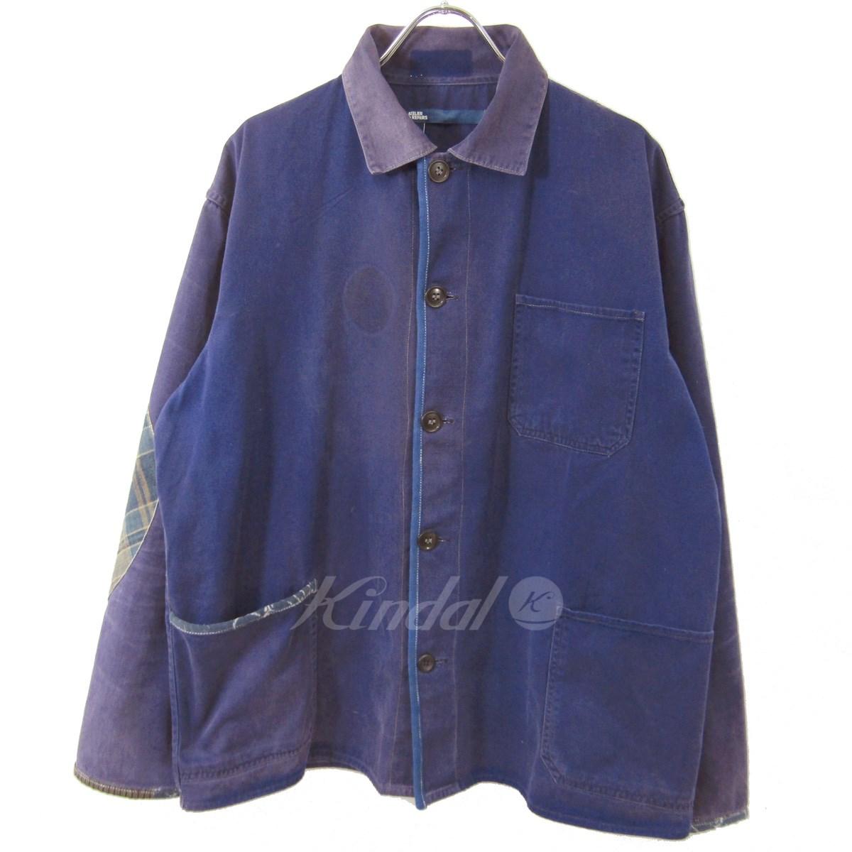 【中古】ATELIER&REPAIRS リメイク カバーオール ジャケット ネイビー サイズ:L 【030420】(アトリエアンドリペアーズ)