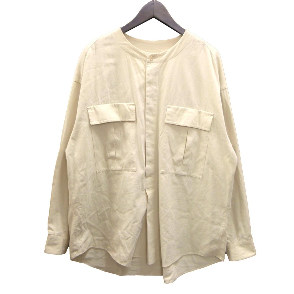 【中古】unfil コットンギャバジンクルタシャツ ベージュ サイズ:4 【040420】(アンフィル)