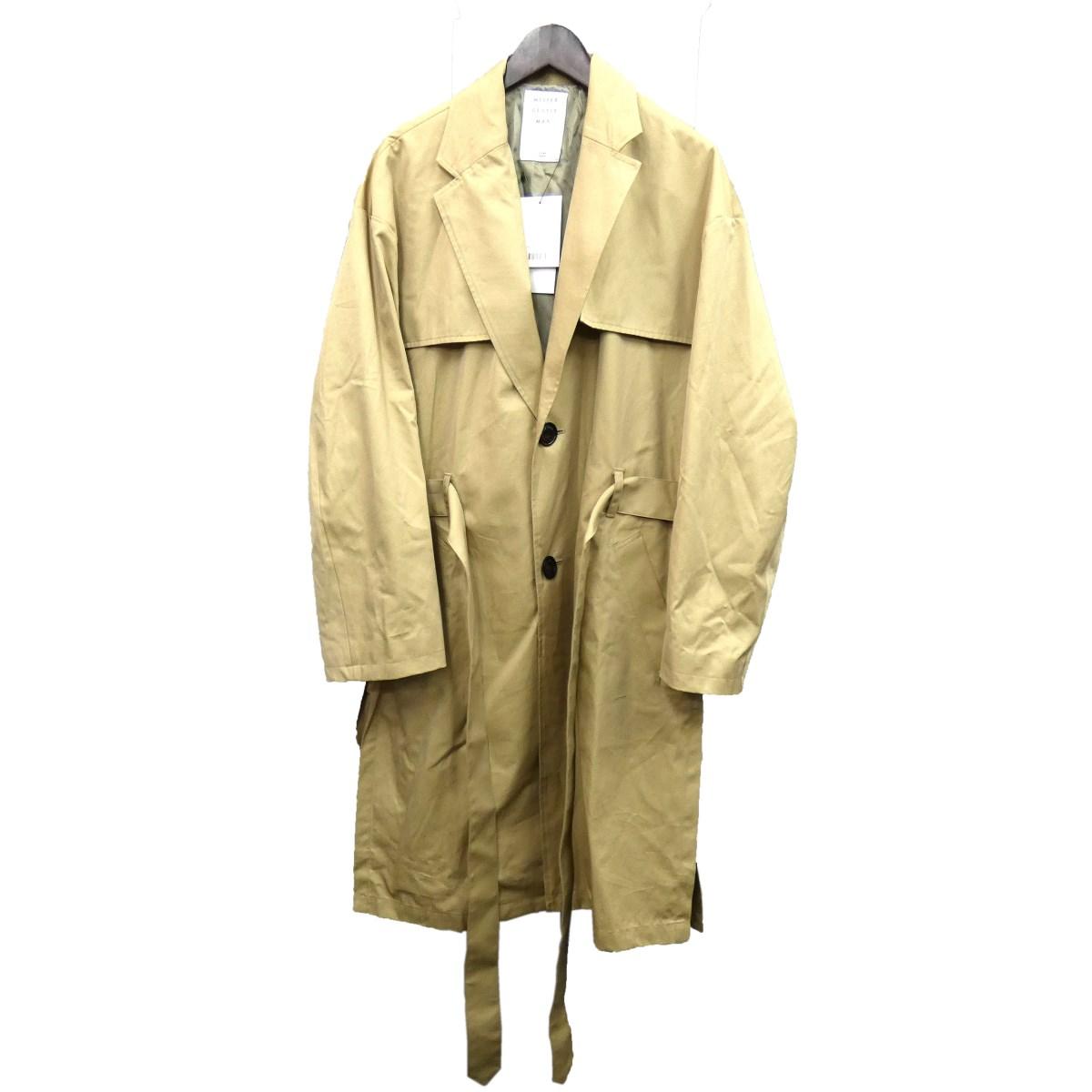 【中古】MR.GENTLEMAN 20SS 「SIDE PLEATS COAT」 トレンチコート ベージュ サイズ:M 【040420】(ミスタージェントルマン)