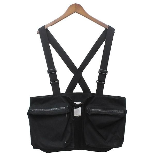 【中古】VAINL ARCHIVE × PORTER CHEST BAG チェストバッグ ベスト ブラック サイズ:ONE 【040420】(ヴァイナル アーカイブ ポーター)