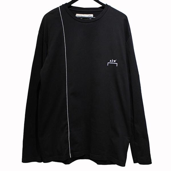 【中古】A-COLD-WALL 19AW LS1 Single Stripe L/S Tee シングルストライプ ロングTシャツ ブラック サイズ:L 【040420】(アコールドウォール)