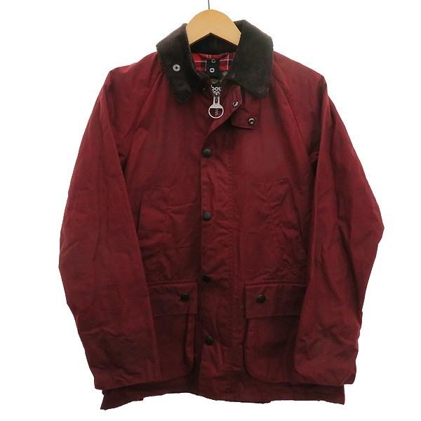 【中古】Barbour ×SHIPS 【SL BEDALE】オイルドジャケット レッド サイズ:34 【050420】(バーブァー)