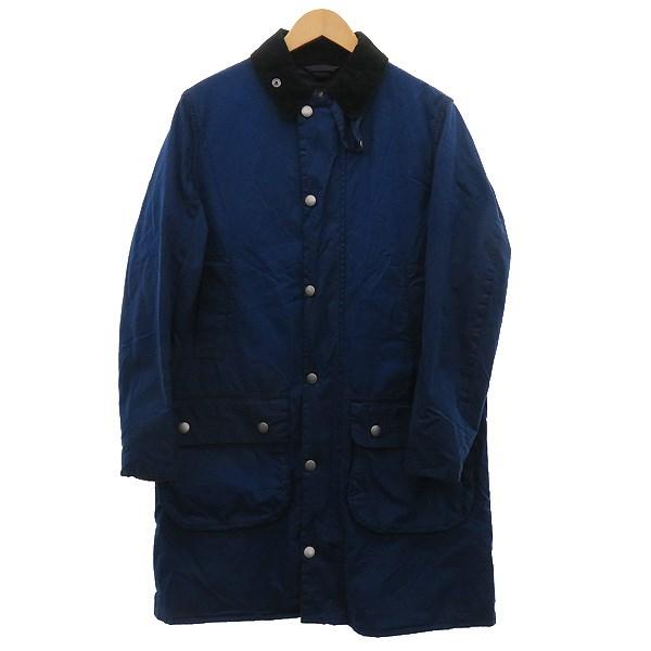 【中古】Barbour 【SLBORDER WASHED】オイルドコート ブルー サイズ:36 【050420】(バーブァー)