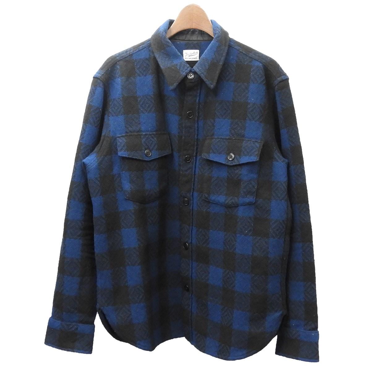 【中古】TENDERLOIN 2015AW 「T-BUFFALO SHT JKT」 バッファローチェックシャツジャケット ネイビー×ブラック サイズ:S 【050420】(テンダーロイン)
