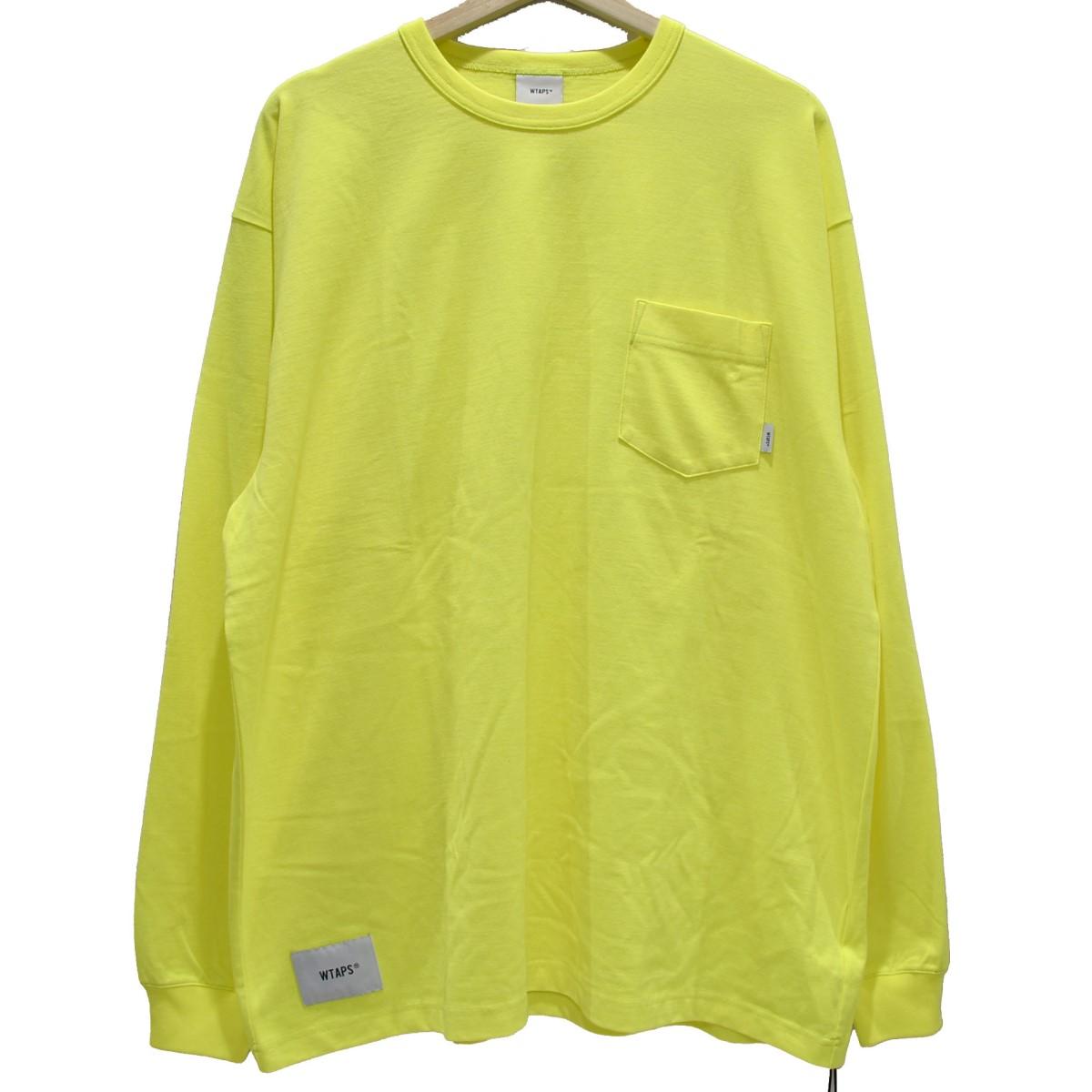 【中古】WTAPS 19AW BLANK LS 02 ロングTシャツ イエロー サイズ:4 【050420】(ダブルタップス)