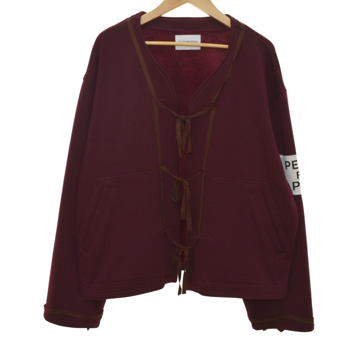 【中古】BLACK WEIRDOS 19AW Cut Jacket カンフージャケット ボルドー サイズ:M 【050420】(ブラックウィドウ)