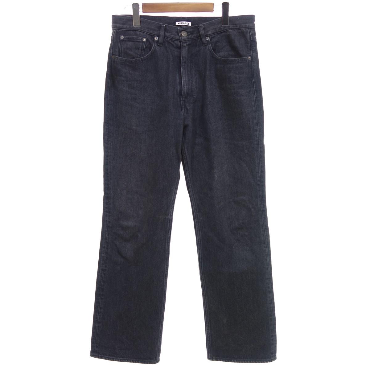 【中古】AURALEE 【2020S/S】 WASHED HARD TWIST DENIM 5P PANTS パンツ ブラック サイズ:30 【050420】(オーラリー)