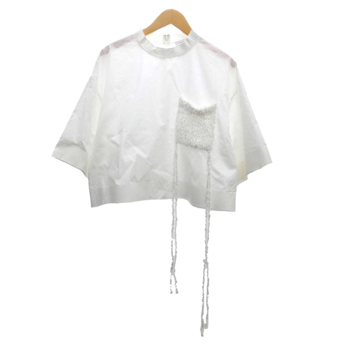【中古】IRENE プルオーバーブラウス ホワイト サイズ:36 【050420】(アイレネ)