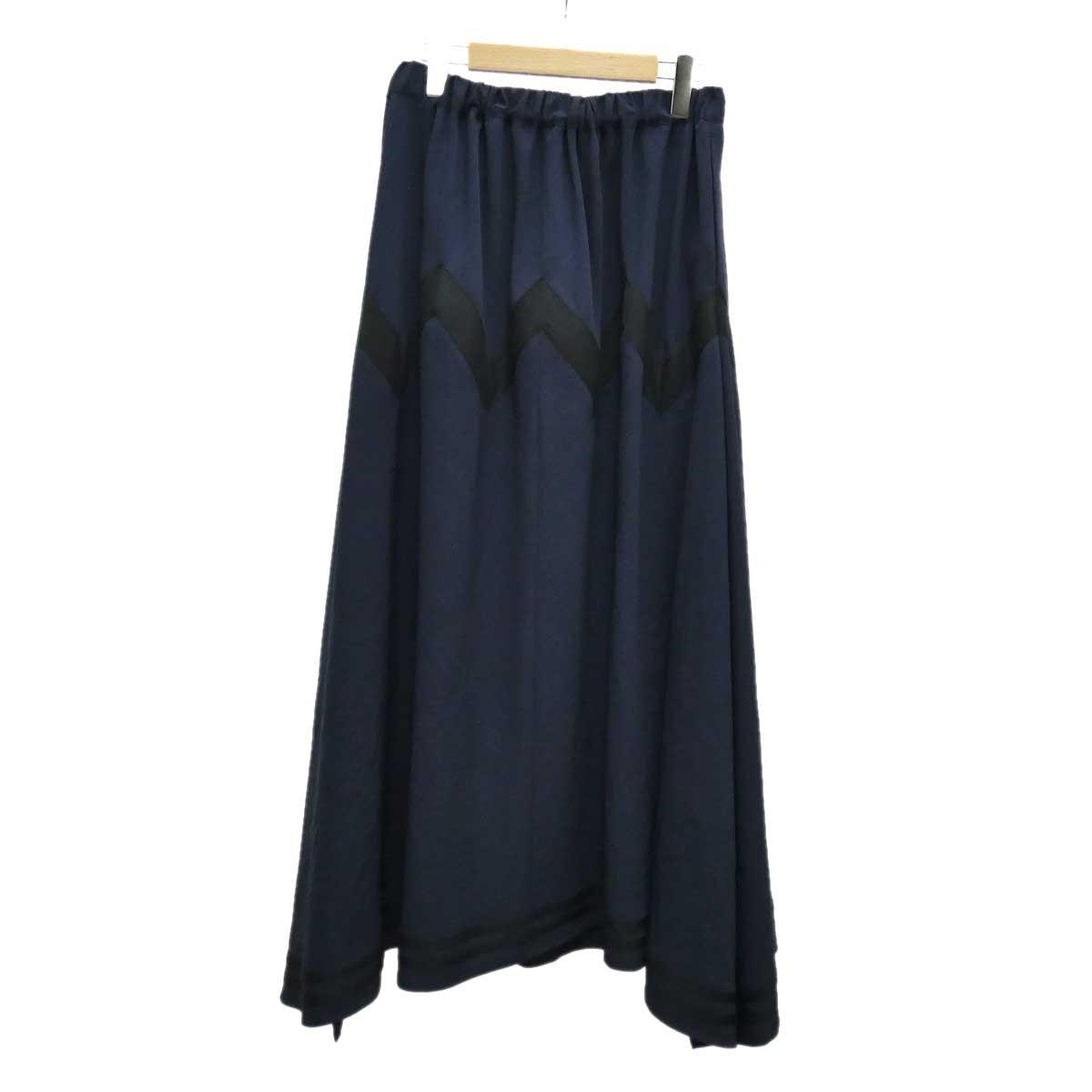 【中古】LIMIfeu ロングスカート ネイビー サイズ:S 【050420】(リミフゥ)