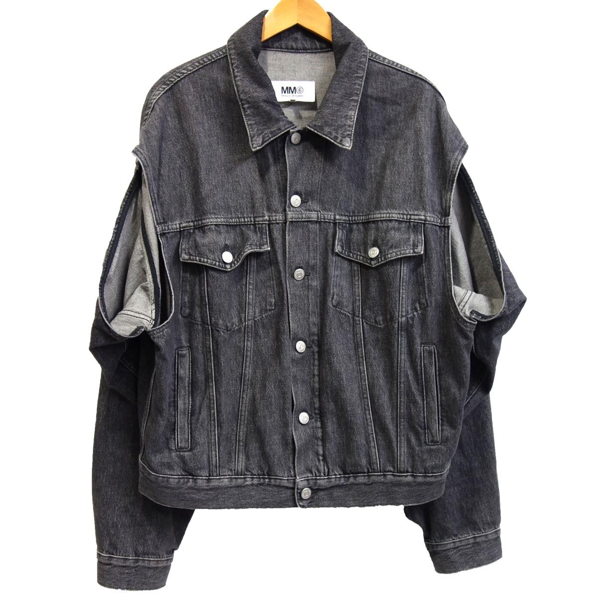 【中古】MM6 Maison Margiela 19SS カットアウトデニムジャケット ブラック サイズ:38 【050420】(エムエムシックスメゾンマルジェラ)
