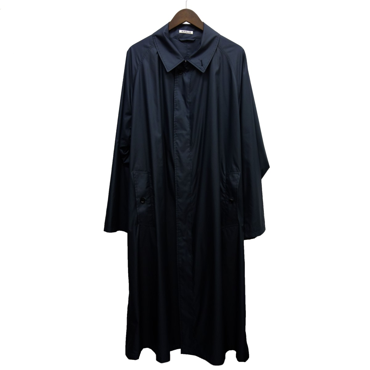 【中古】AURALEE 20SS「LIGHT POLYESTER SOUTIEN COLLAR CORT」 ダークネイビー サイズ:3 【050420】(オーラリー)