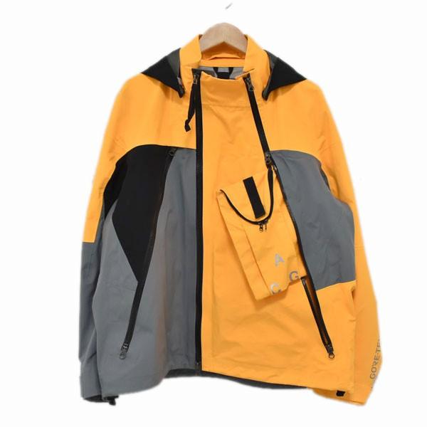 【中古】Nike ACG GORE-TEX DEPLOY JACKET  マウンテンパーカー 923952-065 イエロー×ブラック サイズ:M 【060420】(ナイキエーシージー)