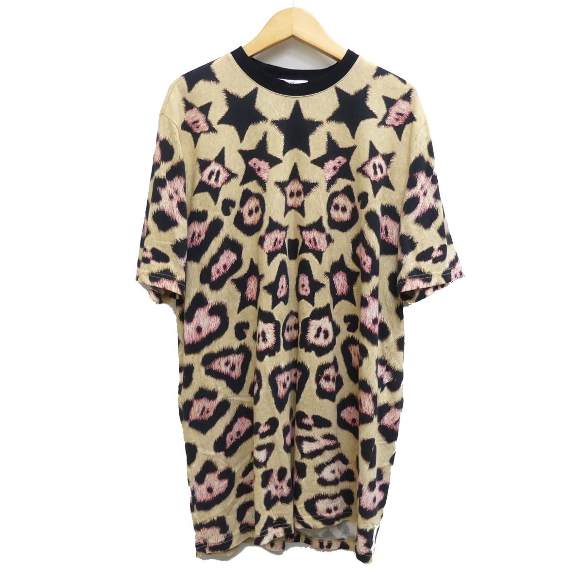 【中古】GIVENCHY レオパードスタープリントTシャツ ベージュ サイズ:XS 【060420】(ジバンシィ)