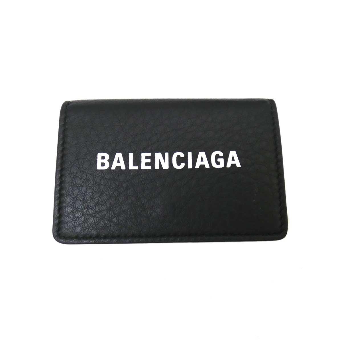 【中古】BALENCIAGA エブリディミニウォレット ブラック 【060420】(バレンシアガ)