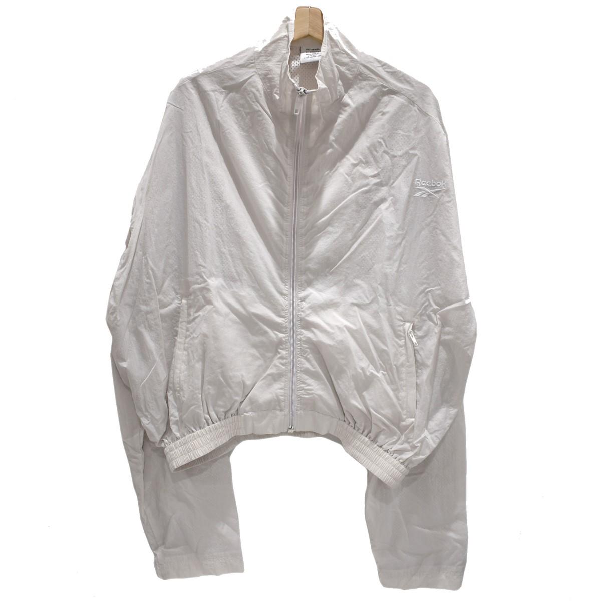 【中古】VETEMENTS ×REEBOK ナイロンジャケット オフホワイト サイズ:M 【050420】(ヴェトモン)