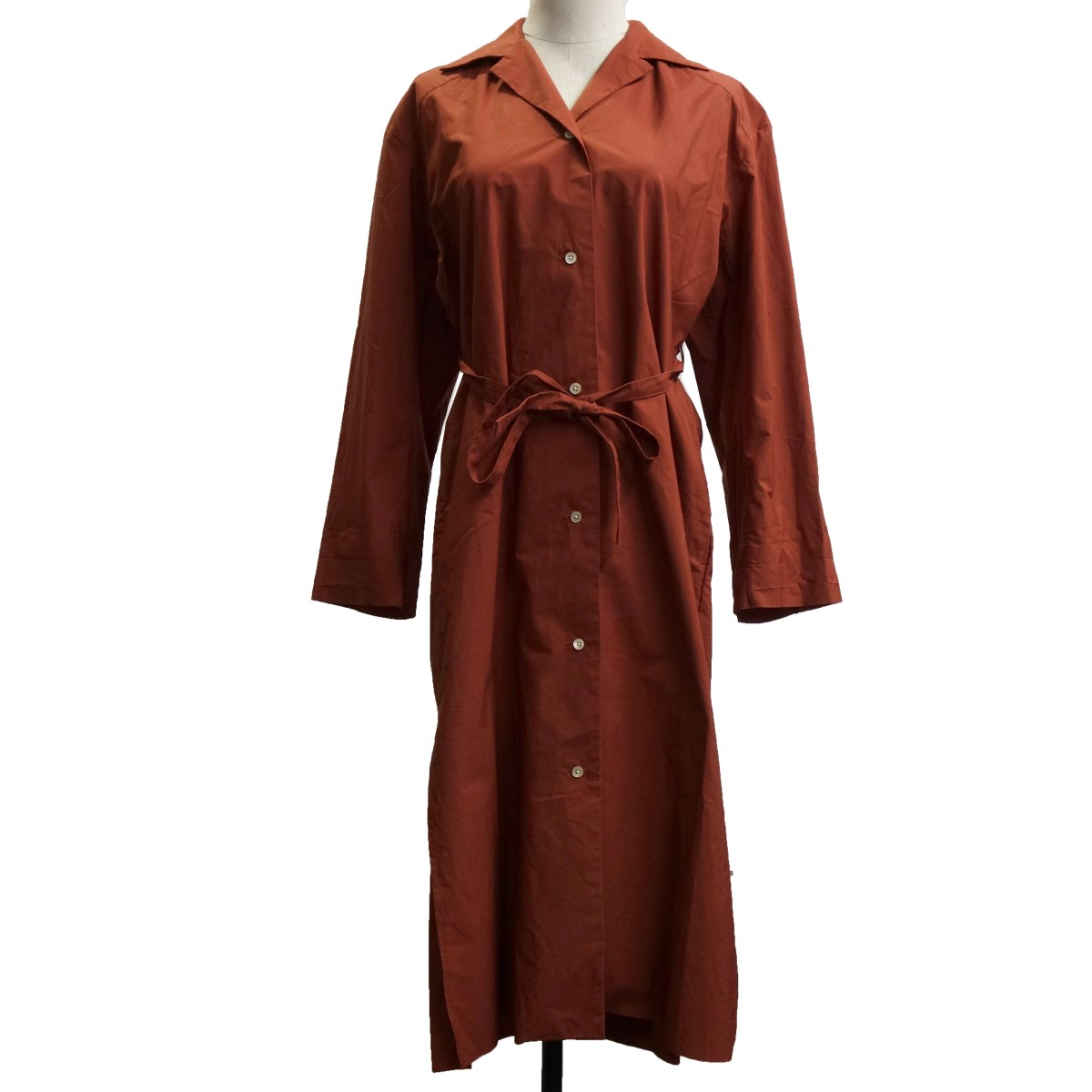 【中古】AURALEE 18SS 「SELVEDGE WEATHER CLOTH LONGSHIRT DRESS」 ブラウン サイズ:0 【060420】(オーラリー)