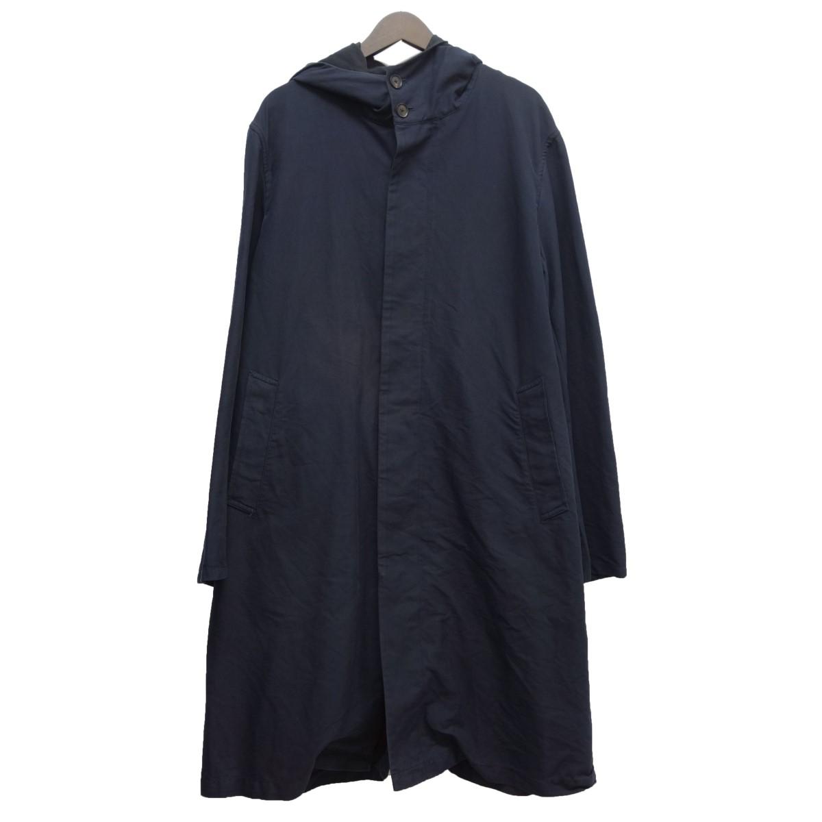 【中古】AURALEE 16SS「FINX DOUBLE CLOTH HOODED COAT」ダブルクロスフーデットコート ネイビー サイズ:4 【060420】(オーラリー)