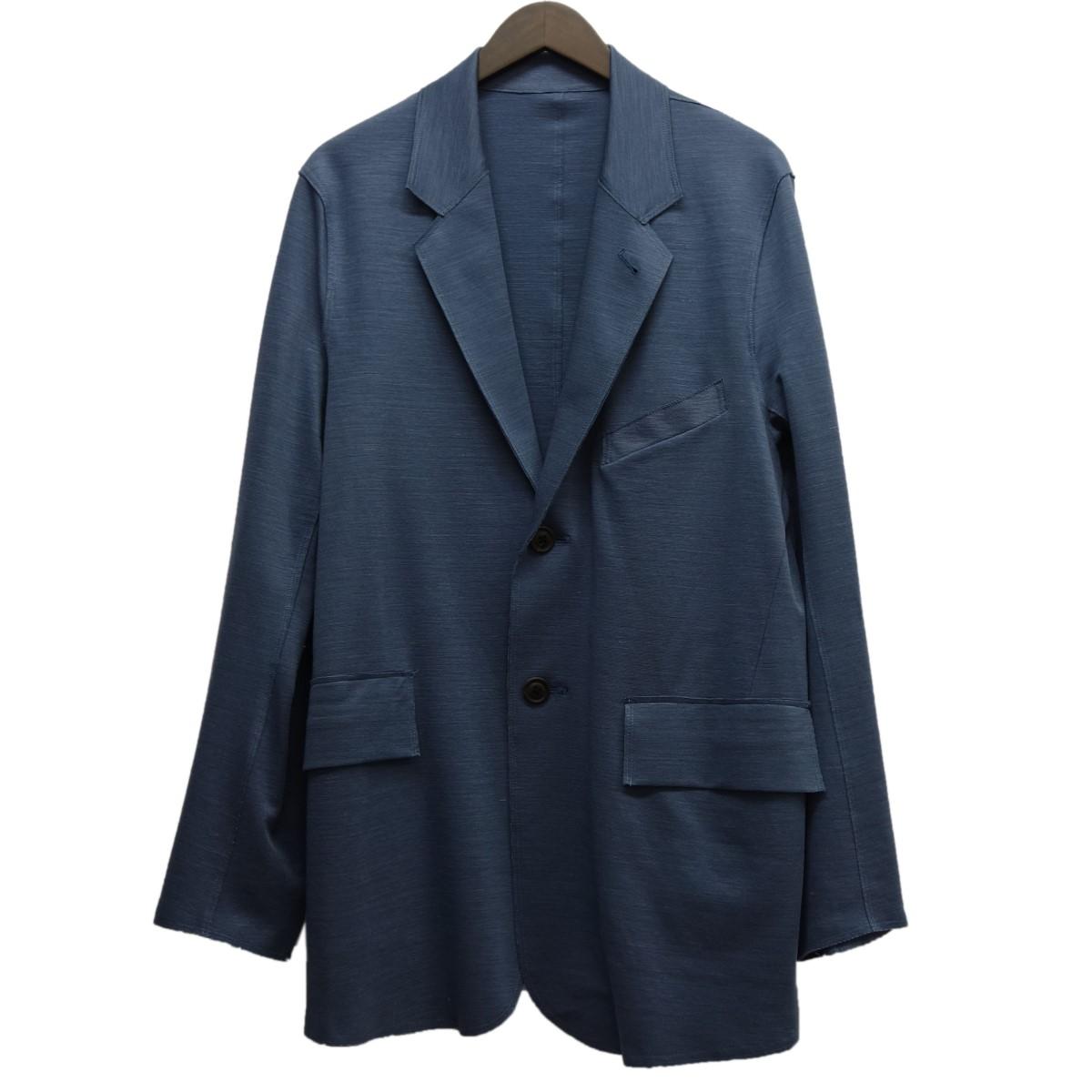 【中古】URU 18SS「MIRANO RIB JACKET」ミラノリブジャケット ブルーグレー サイズ:1 【060420】(ウル)