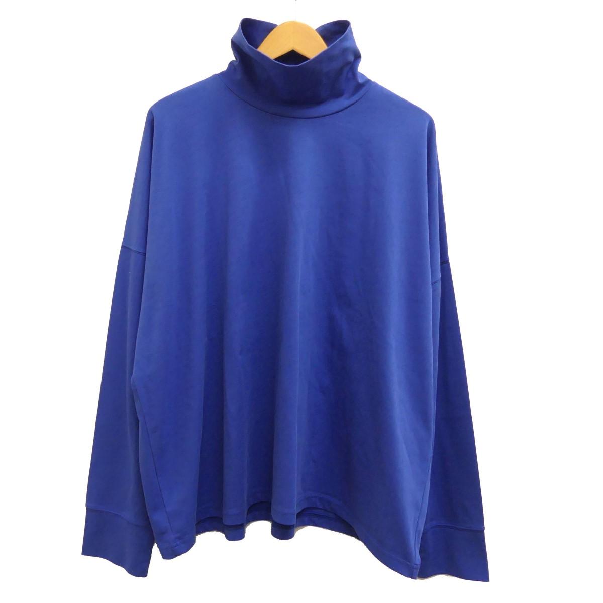 【中古】STUDIO NICHOLSON roll neck lomg sleeve t-shirt タートルネックカットソー ブルー サイズ:M 【070420】(スタジオ ニコルソン)