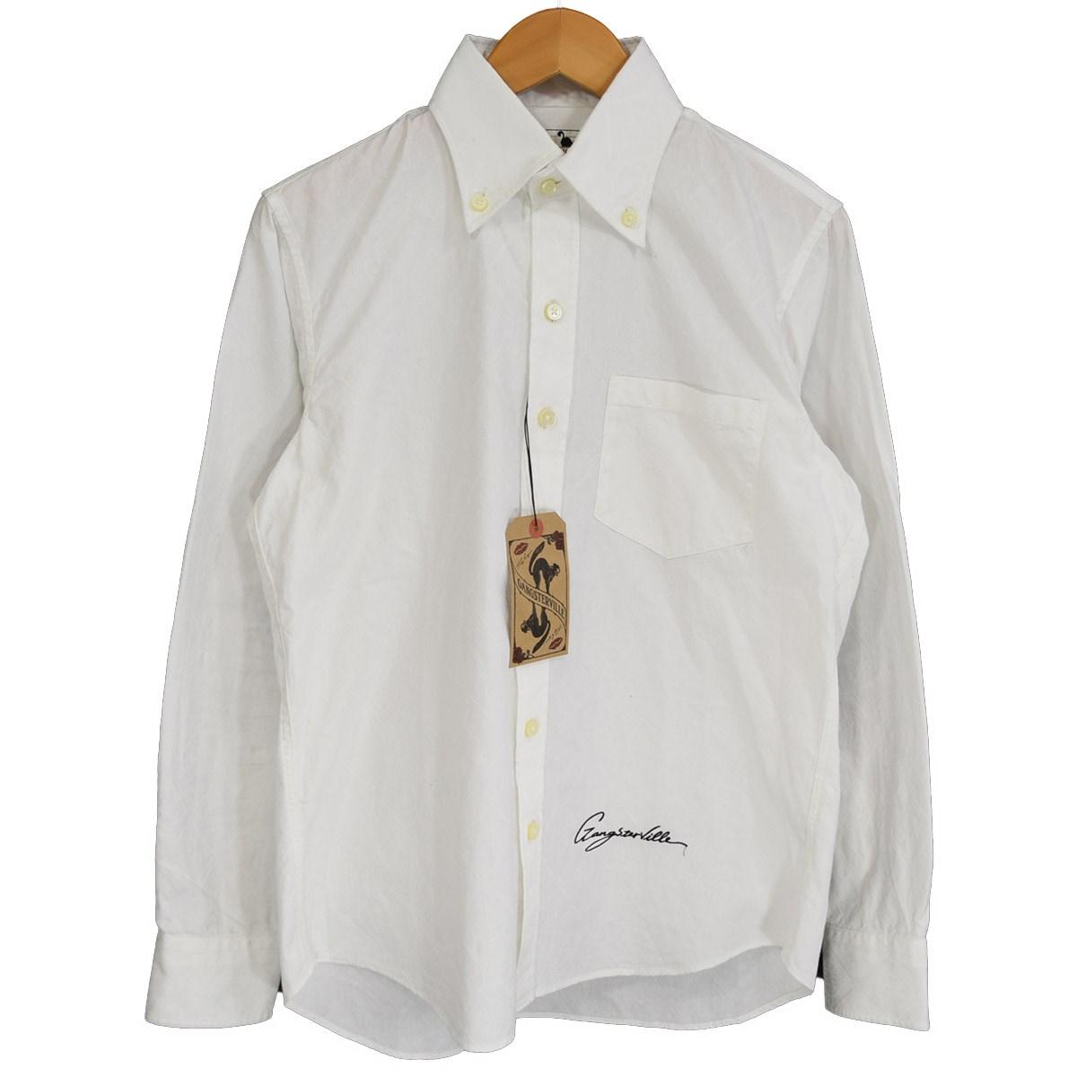 【中古】GANGSTERVILLE SMUGGLER-L/S SHIRT ロングスリーブシャツ 2019AW GSV-19-AW-27 ホワイト サイズ:S 【060420】(ギャングスタービル)