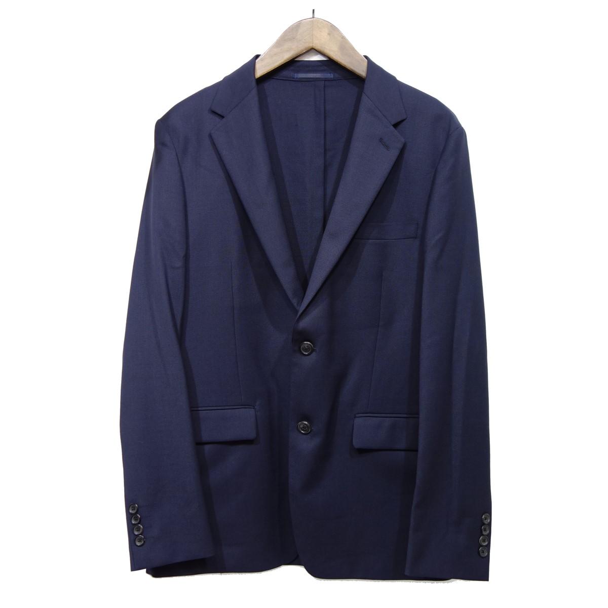 【中古】ESTNATION ウール混ポリエステルテーラード2Bジャケット ネイビー サイズ:50 【070420】(エストネーション)
