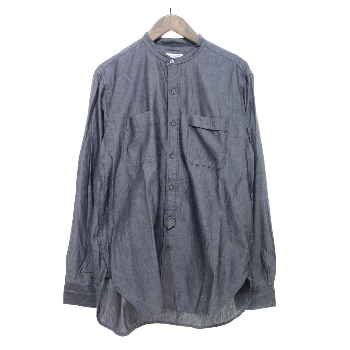 【中古】Engineered Garments バンドカラーシャツ グレー サイズ:M 【070420】(エンジニアードガーメンツ)
