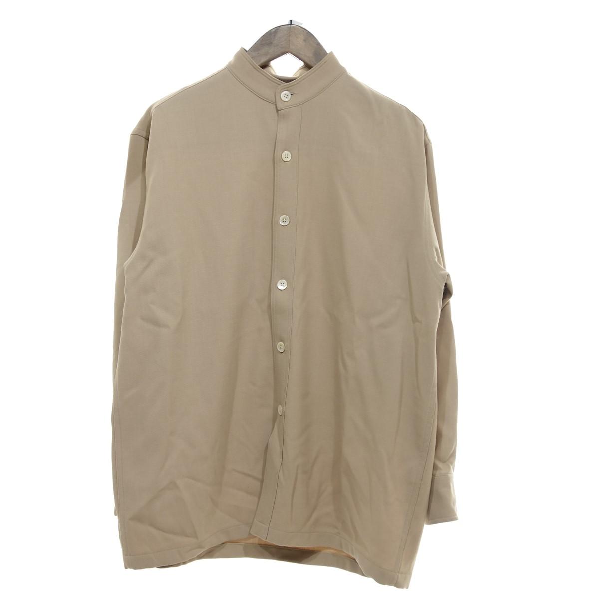 【中古】AURALEE 19AW HARD TWIST WOOL BARATHEA SH スタンドカラーシャツ ベージュ サイズ:1 【070420】(オーラリー)