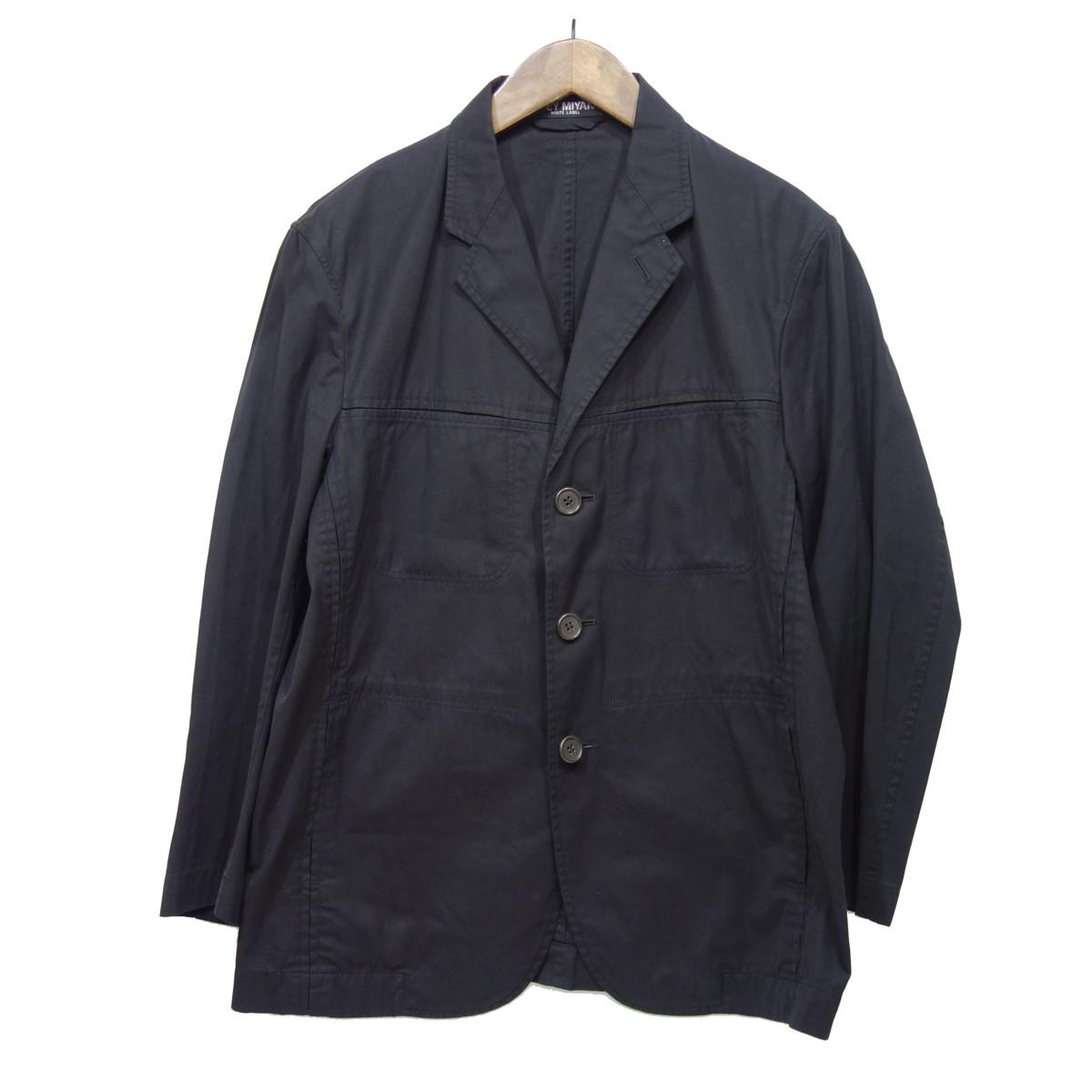 【中古】ISSEY MIYAKE WHITE LABEL 3Bジャケット ブラック サイズ:1 【070420】(イッセイミヤケ ホワイトレーベル)
