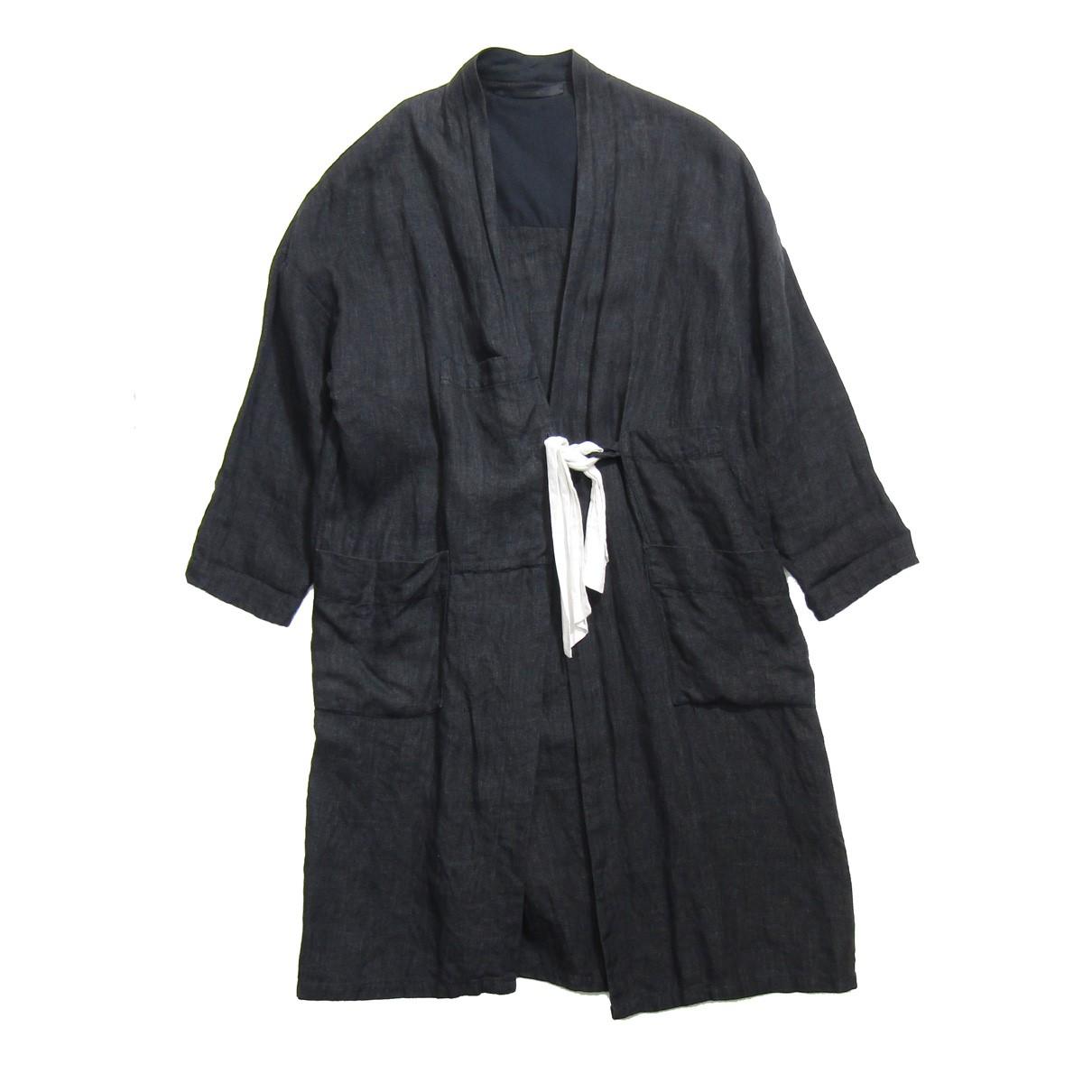 【中古】ELSA ESTURGIE ROSIE COAT/リネンコート ブラック サイズ:36 【070420】(エルサエストゥージー)