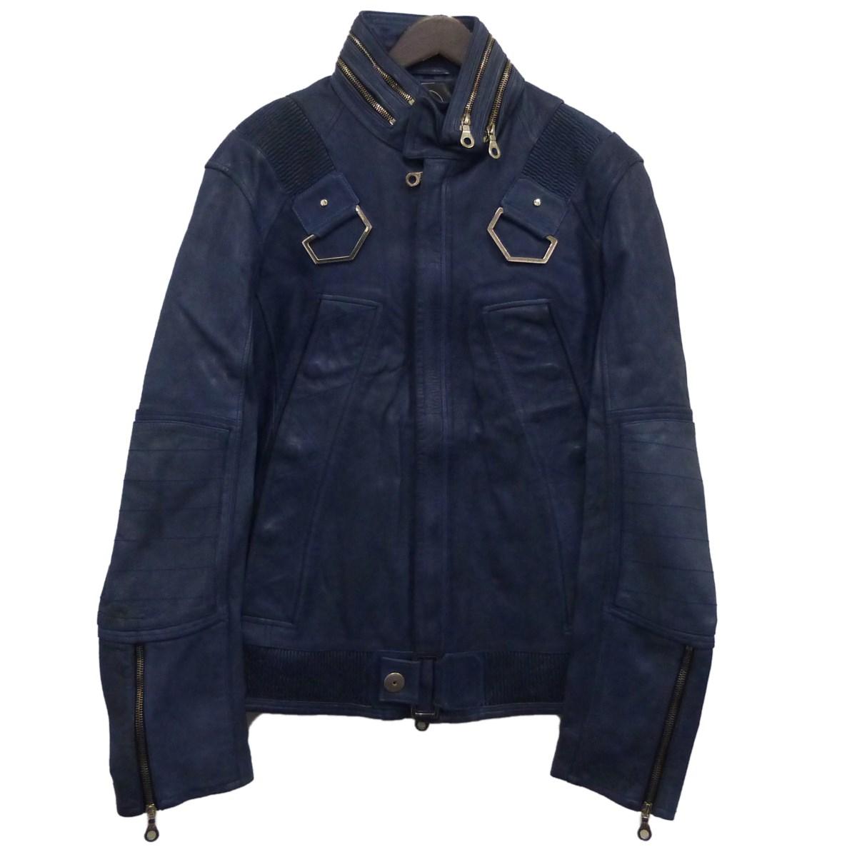 【中古】ANTINOISE レザーデザインジャケット ネイビー サイズ:M 【070420】(アンチノイズ)